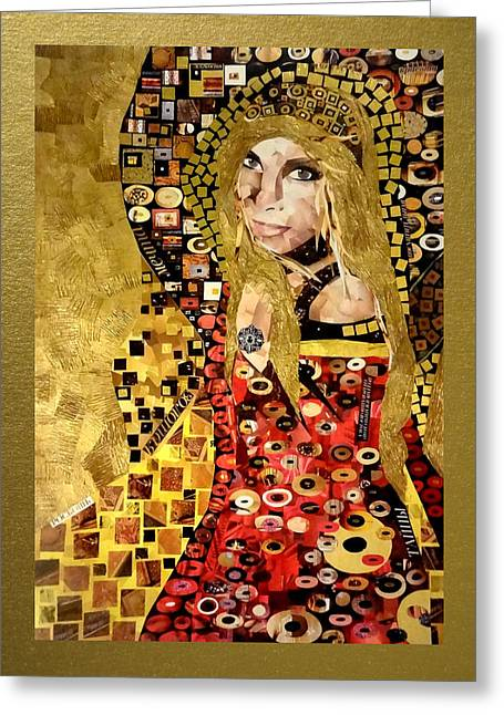 Photo Art Gallery Paintings Greeting Cards - Order your portrait in the style of Gustav Klimt Greeting Card by Irina Bast