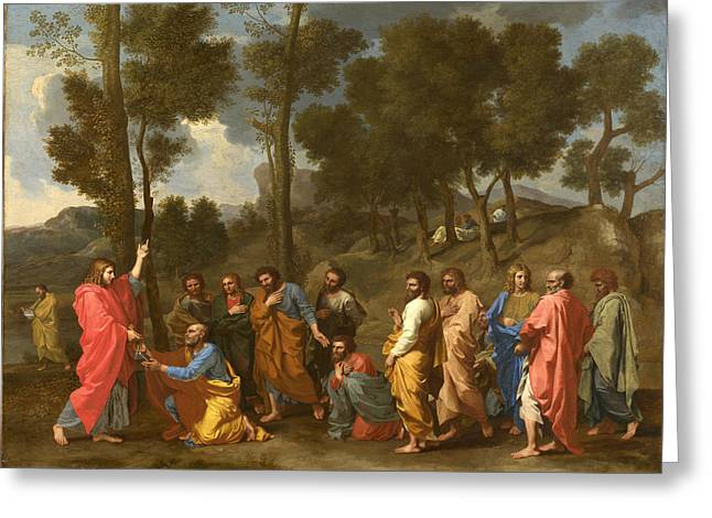 Poussin Greeting Cards - Ordination Greeting Card by Nicolas Poussin