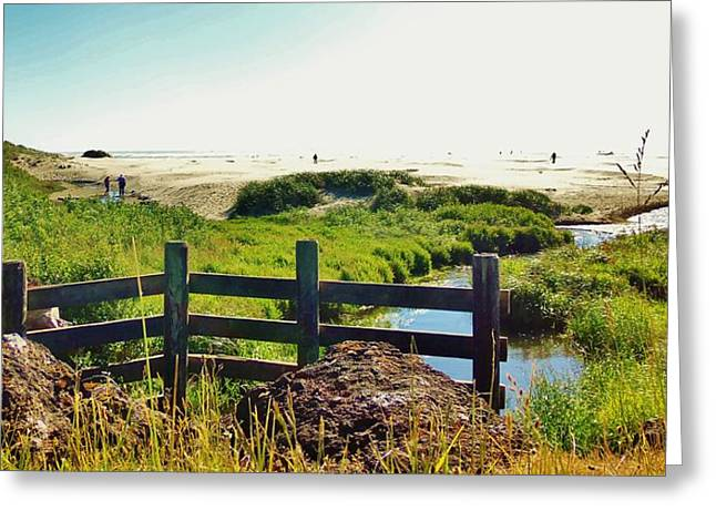Oregon Beach 1 Greeting Card by Larry Campbell