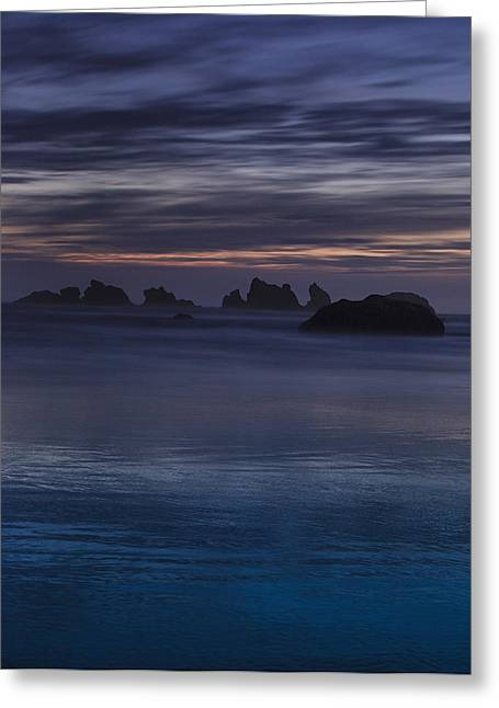Ocean Art Photographs Greeting Cards - Oregon Coast after Sunset Greeting Card by Andrew Soundarajan