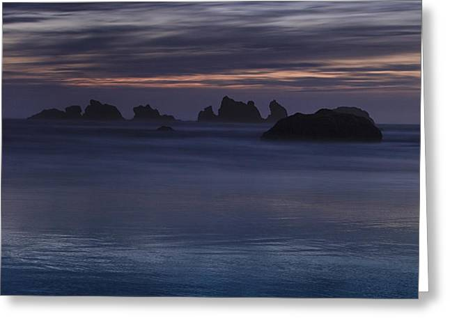 Oregon Coast after Sunset Greeting Card by Andrew Soundarajan