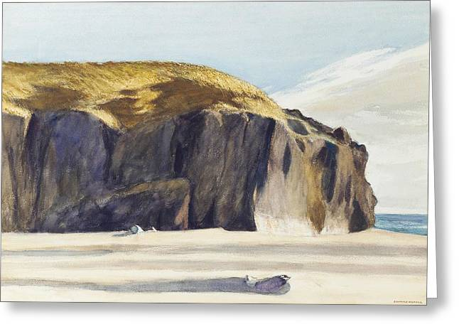 Crag Greeting Cards - Oregon Coast Greeting Card by Edward Hopper
