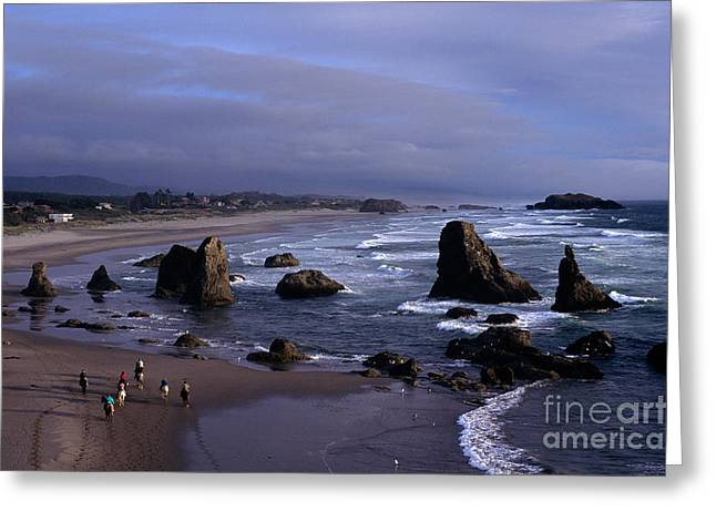 Spectacular Ocean Vistas Greeting Cards - Oregon Coastline Greeting Card by Jim Corwin