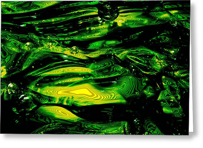Oregon Ducks Abstract Greeting Card by David Patterson