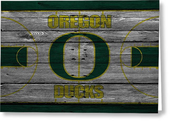 Dunks Greeting Cards - Oregon Ducks Greeting Card by Joe Hamilton