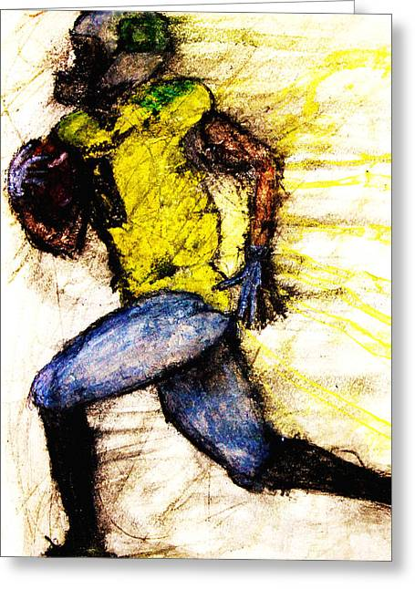 Oregon Football 2 Greeting Card by Michael Cross