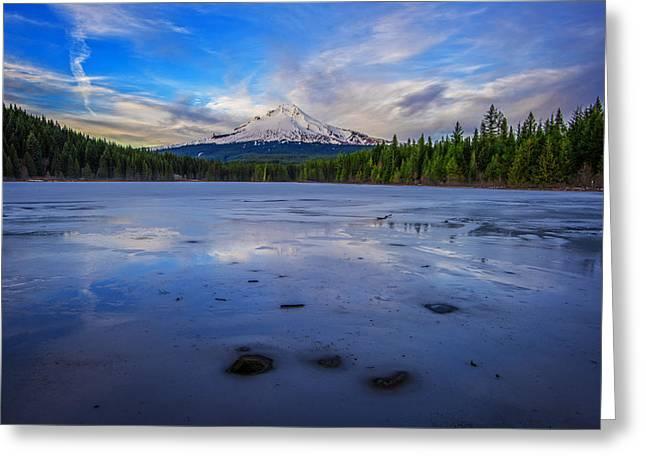 Mount Hood Oregon Greeting Cards - Oregon January Greeting Card by Rick Berk