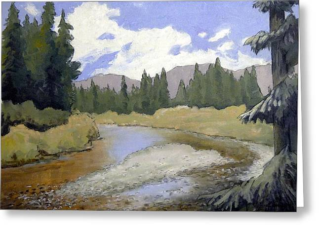 Fishing Creek Mixed Media Greeting Cards - Oregon Landscape Number 127 Greeting Card by Kenny Henson