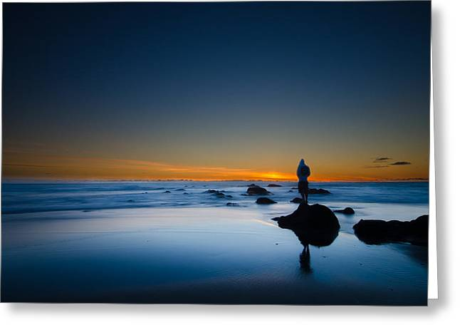 Top Seller Greeting Cards - Oregon Lincoln beach sunset Greeting Card by Tin Lung Chao