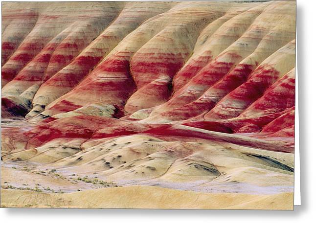 Stripe.paint Greeting Cards - Oregon Painted Hills Greeting Card by Anonymous
