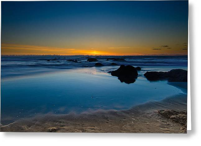 Top Seller Greeting Cards - Oregon Sunset Greeting Card by Tin Lung Chao