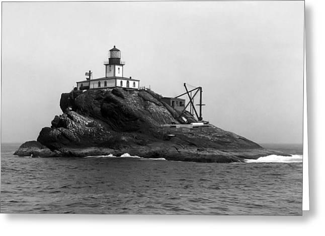 Tillamook Rock Lighthouse Greeting Cards - Oregon Tillamook Lighthouse - 1891 Greeting Card by Daniel Hagerman