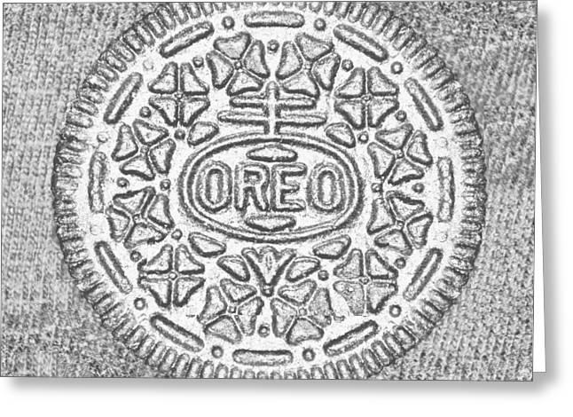 Oreo Greeting Cards - Oreo Chrome Greeting Card by Rob Hans