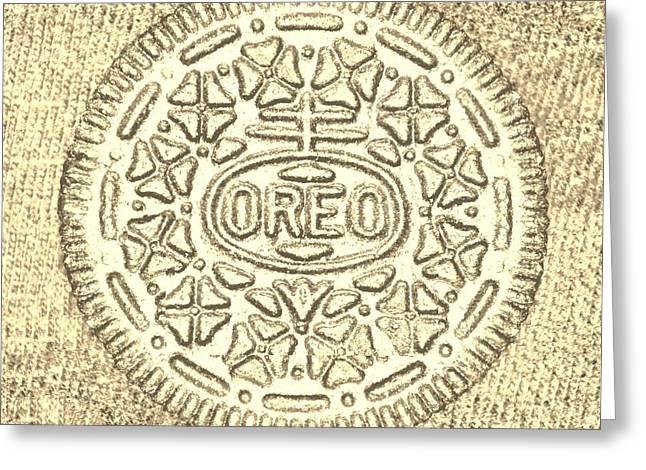 Oreo Greeting Cards - Oreo Chrome Sepia Greeting Card by Rob Hans