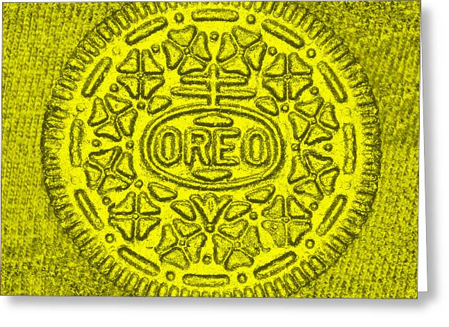 Oreo Greeting Cards - Oreo Chrome Yellow Greeting Card by Rob Hans