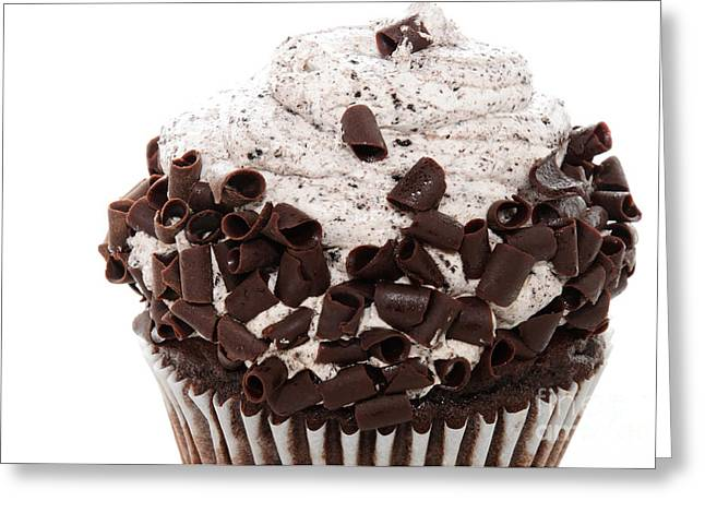 Oreo Photographs Greeting Cards - Oreo Cookie Cupcake 2 Greeting Card by Andee Design