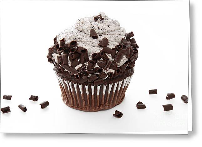 Oreo Photographs Greeting Cards - Oreo Cookie Cupcake Greeting Card by Andee Design