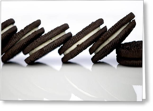 Sandwich Cookie Greeting Cards - Oreo Cookies Greeting Card by Juli Scalzi