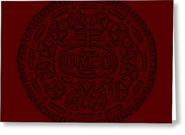 Oreo Greeting Cards - Oreo Muted Red Greeting Card by Rob Hans