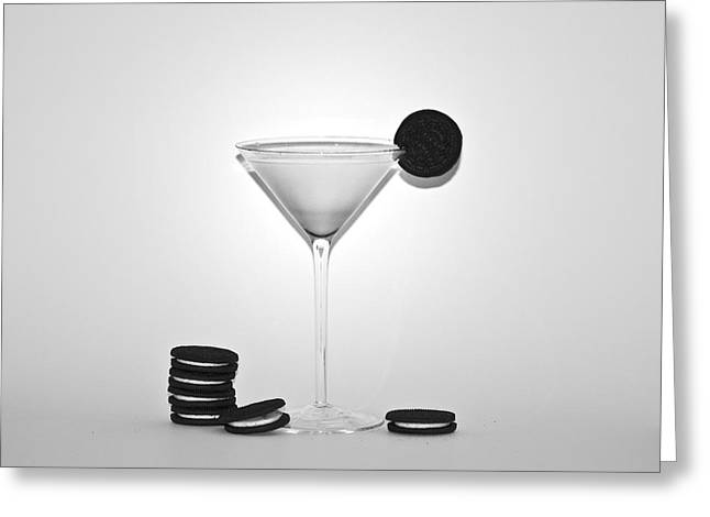 Oreo Happy Hour Greeting Card by Bill Cannon