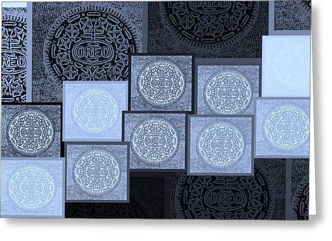 Oreo Greeting Cards - Oreo Hope Collage 2 Cyan Greeting Card by Rob Hans