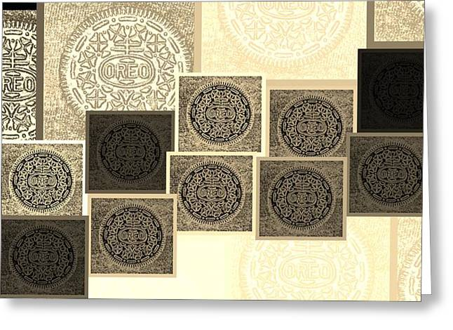 Oreo Greeting Cards - Oreo Hope Collage Sepia Greeting Card by Rob Hans