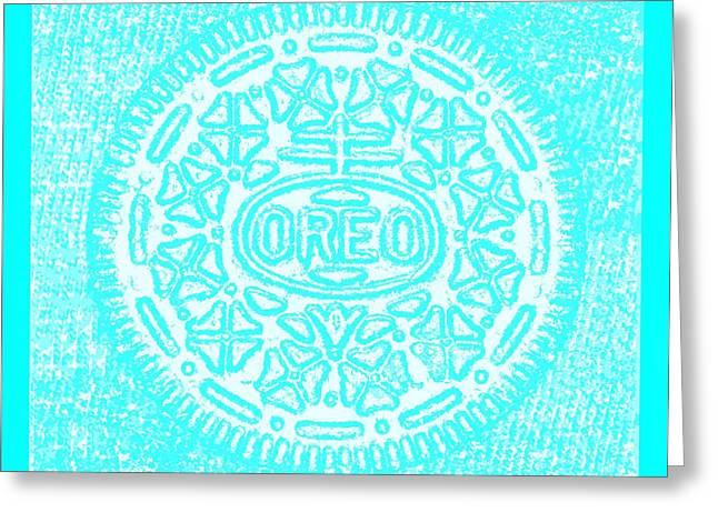 Oreo Greeting Cards - Oreo Hope Negative Aquamarine Greeting Card by Rob Hans