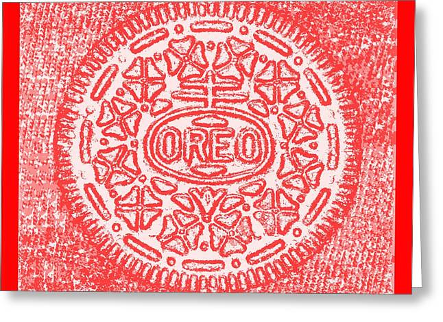 Oreo Greeting Cards - Oreo Hope Negative Red Greeting Card by Rob Hans