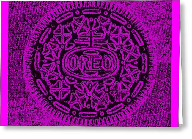 Oreo Greeting Cards - Oreo Hope Purple Greeting Card by Rob Hans