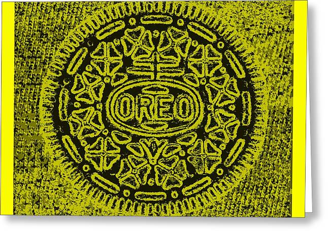 Oreo Greeting Cards - Oreo Hope Yellow Greeting Card by Rob Hans