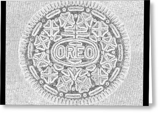 Oreo Cookie Greeting Cards - OREO in GREY Greeting Card by Rob Hans
