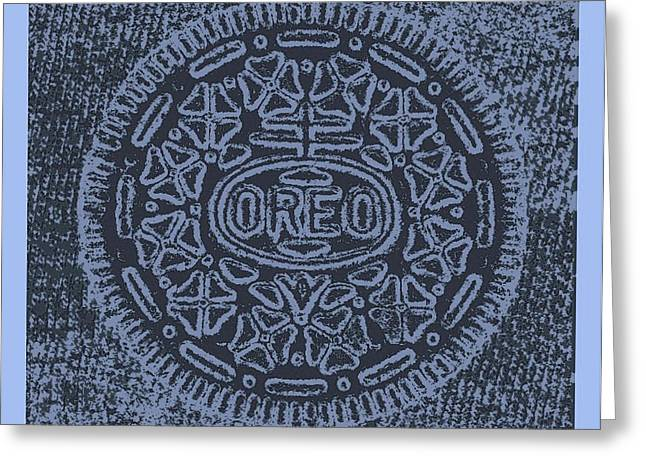 Oreo Greeting Cards - OREO in HOPE CYAN Greeting Card by Rob Hans