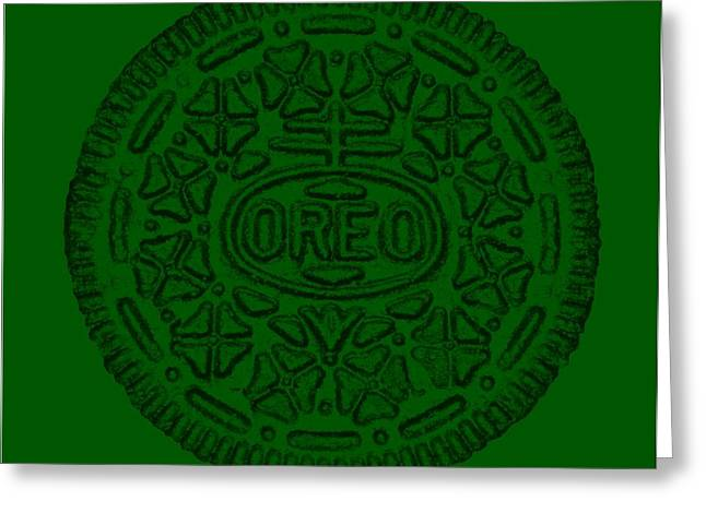 Oreo Greeting Cards - Oreo Muted Green Greeting Card by Rob Hans