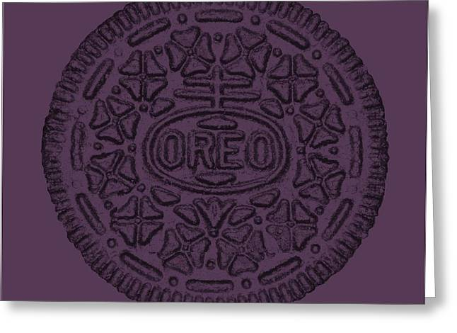 Oreo Greeting Cards - Oreo Muted Pink Greeting Card by Rob Hans