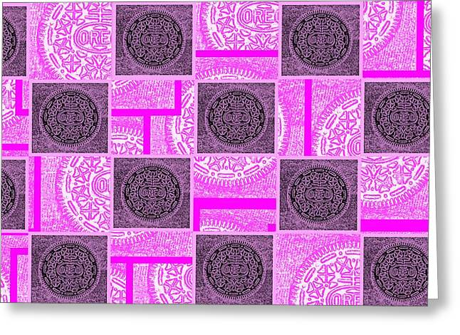 Oreo Greeting Cards - Oreo Pink Checker Board For The Cure Greeting Card by Rob Hans