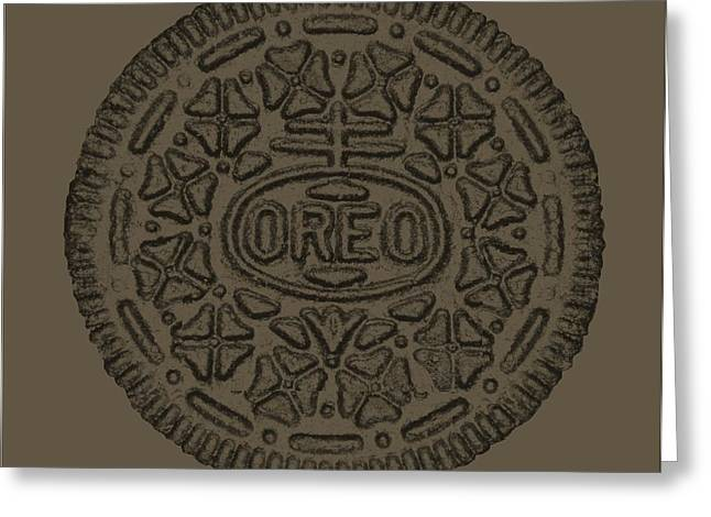 Oreo Greeting Cards - Oreo Smooth Gray Greeting Card by Rob Hans