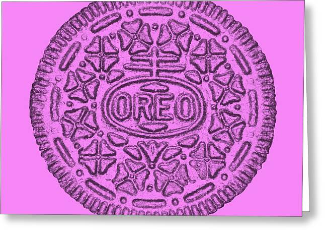 Oreo Greeting Cards - Annas Pink Oreo For The Cure Greeting Card by Rob Hans