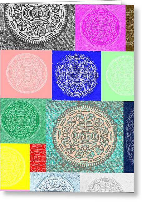 Oreo Greeting Cards - Oreo Squares Neagtive Greeting Card by Rob Hans