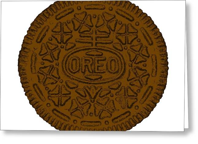 Oreo Greeting Cards - Oreo White Brown Greeting Card by Rob Hans