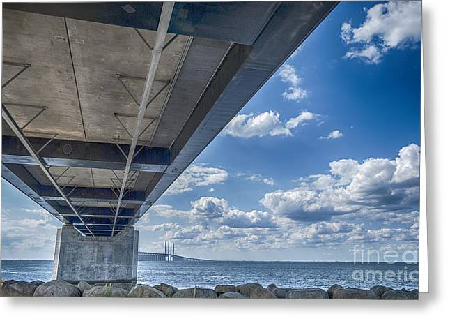 Malmo Greeting Cards - Oresundsbron HDR Greeting Card by Antony McAulay