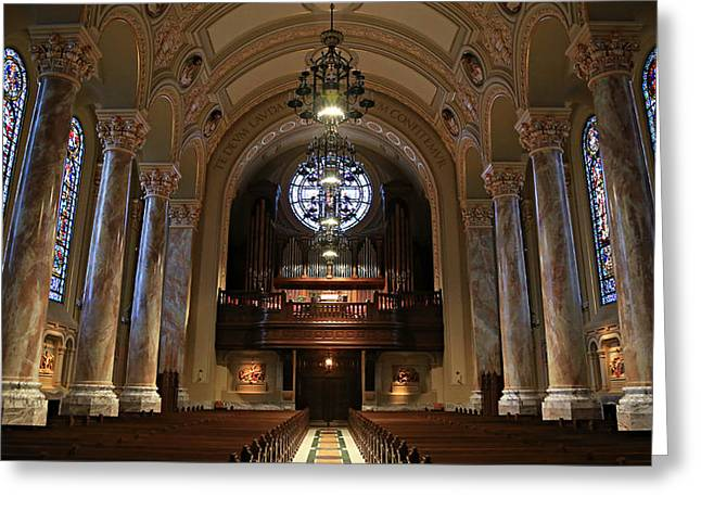Illuminate Greeting Cards - Organ -- Cathedral of St. Joseph Greeting Card by Stephen Stookey