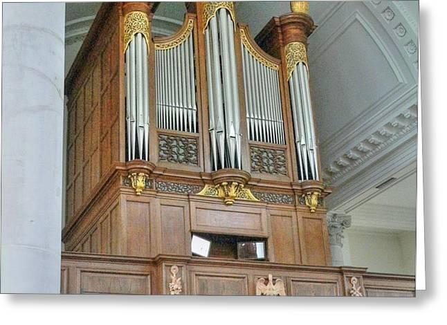 Organ at Westminster Greeting Card by David Bearden