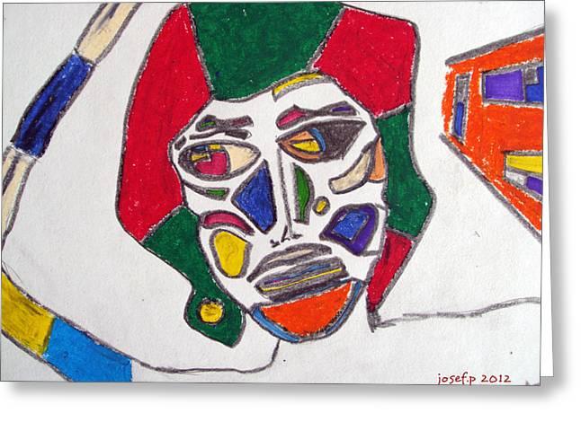 Organ Donation Face Part One 2012 Greeting Card by Sir Josef Social Critic - ART