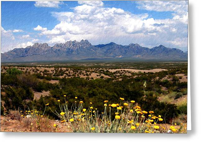 Las Cruces Landscape Greeting Cards - Organ Mountain Splendor Greeting Card by Kurt Van Wagner