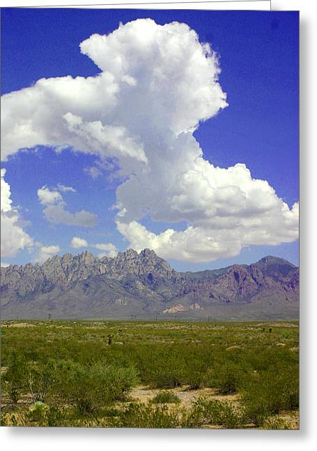 Pipe Organ Greeting Cards - Organ Mountain summer clouds Greeting Card by Jack Pumphrey