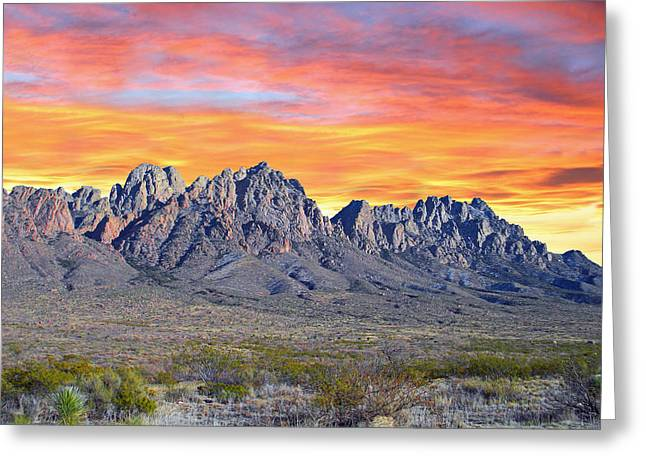 Organ Mountain Sunrise Greeting Card by Jack Pumphrey