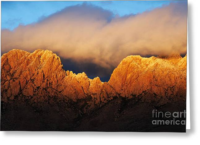 Las Cruces Photograph Greeting Cards - Organ Mountains Magic Greeting Card by Vivian Christopher