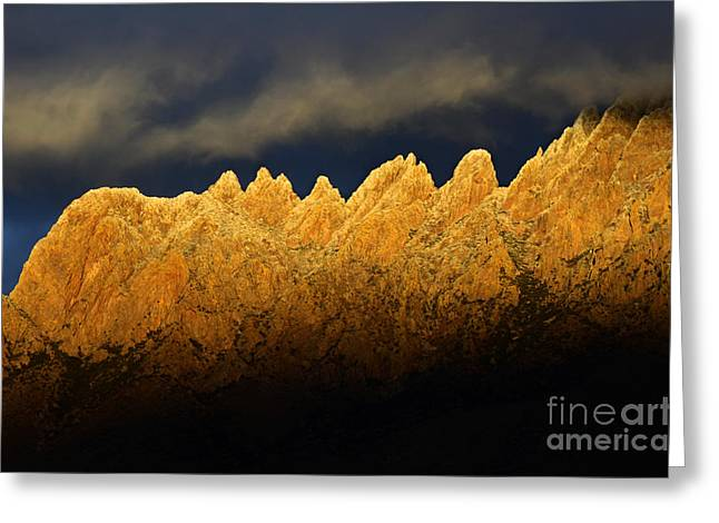 Las Cruces New Mexico Greeting Cards - Organ Mountains Magical Light Greeting Card by Bob Christopher