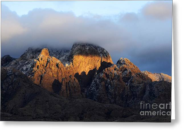 Las Cruces Landscape Greeting Cards - Organ Mountains Sacred  Earth Greeting Card by Bob Christopher