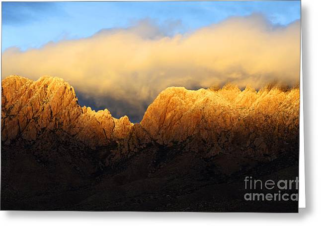 Las Cruces New Mexico Greeting Cards - Organ Mountains Symphony Of Light Greeting Card by Bob Christopher